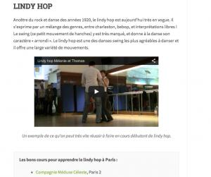Les meilleurs cours de Swing Lindy Hop à Paris, vu par Onydanse