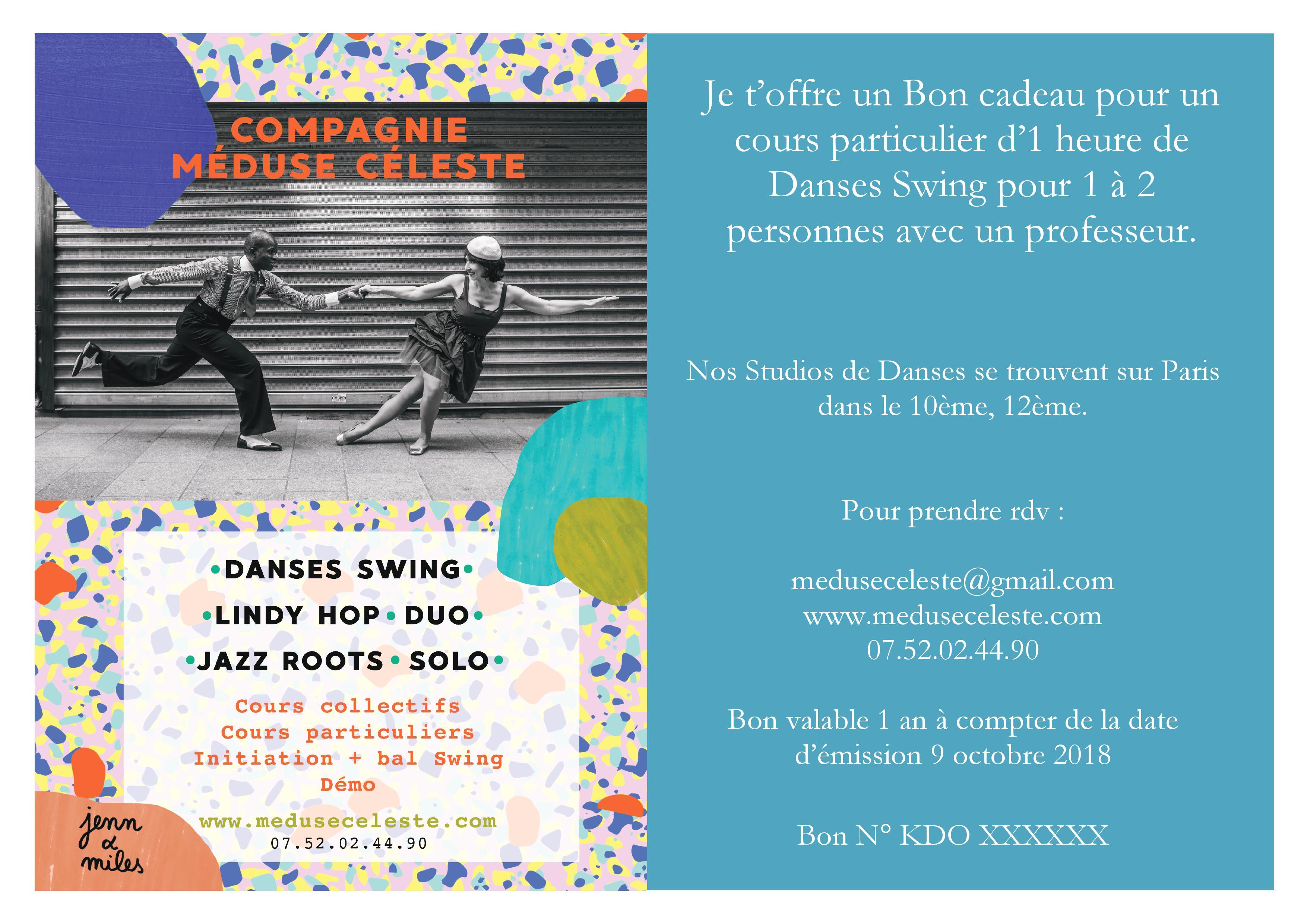 Bon cadeau Swing Cie Méduse Céleste
